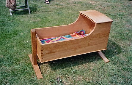 Traditional rocking cradle